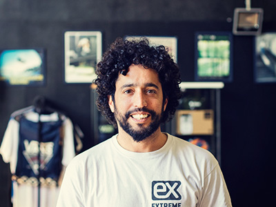 Gustavo Rosende. Propietario y monitor Extreme Center Lanzarote